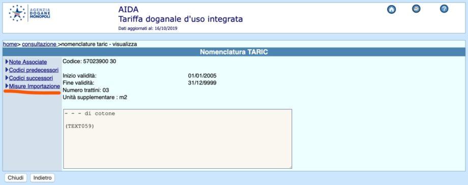 taric code