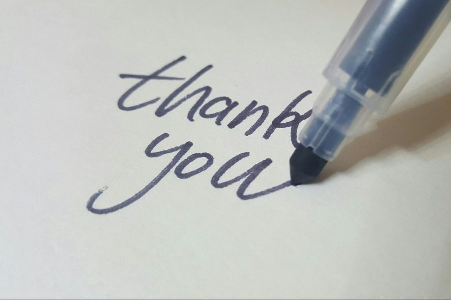 pagina di ringraziamento