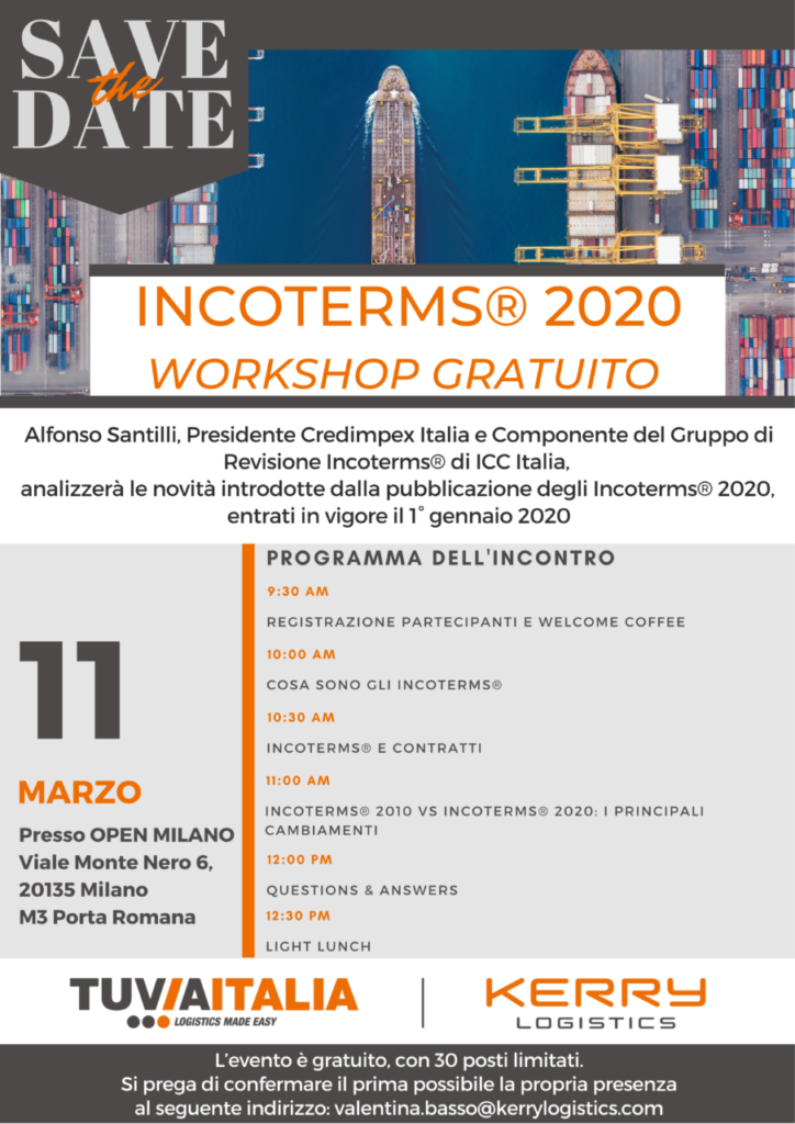 workshop a Milano sugli Incoterms