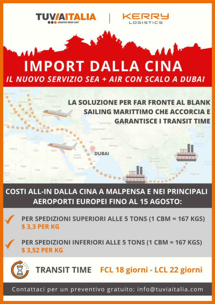 spedizioni internazionali mare aereo Cina