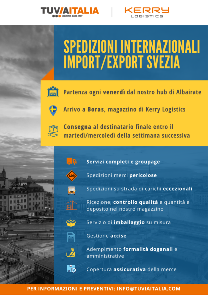 spedizioni internazionali import export svezia